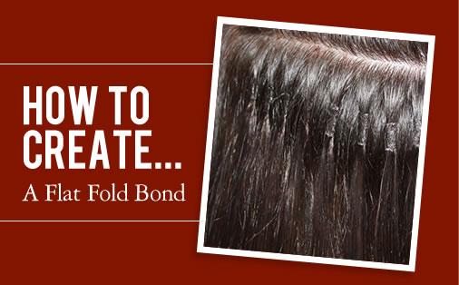how to create a flat fold bond