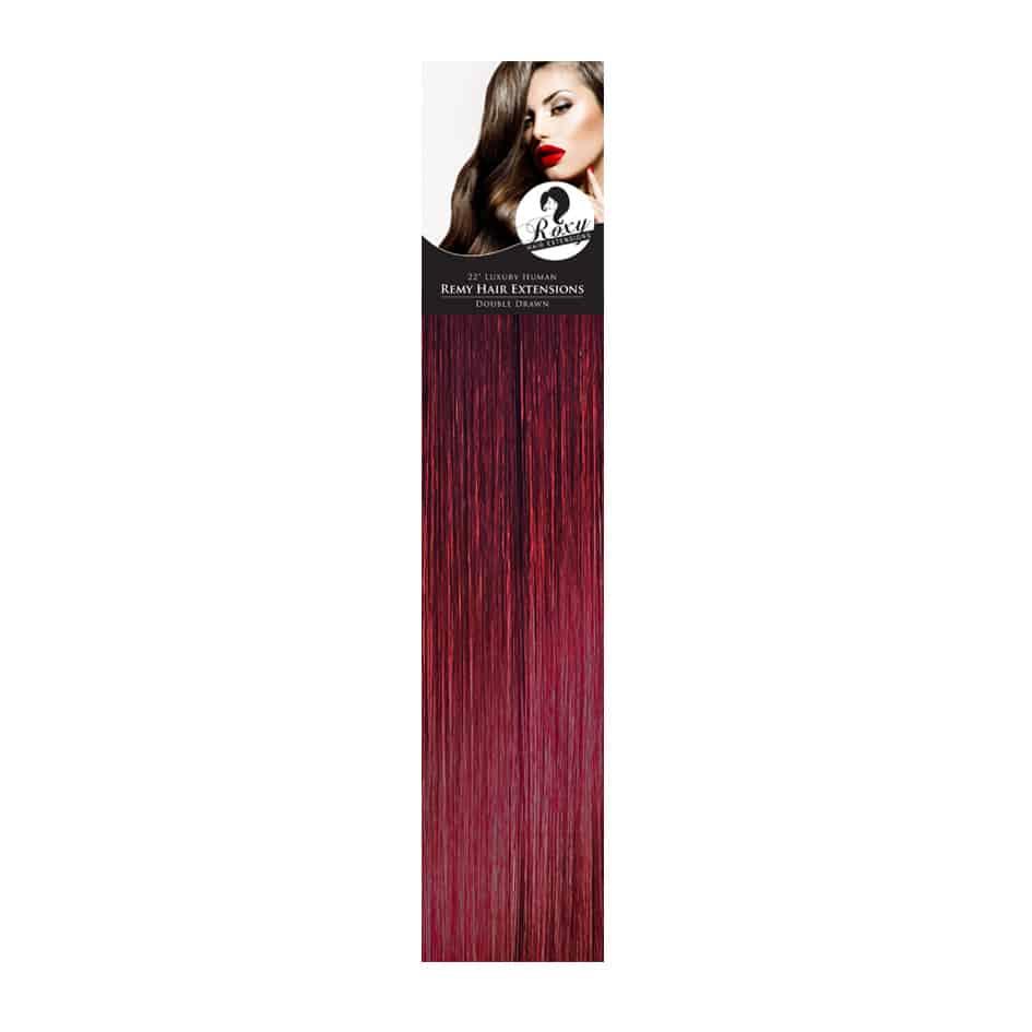 Burg Berry Red Brazilian Flat Tips 22 1g Roxy Hair Extensions