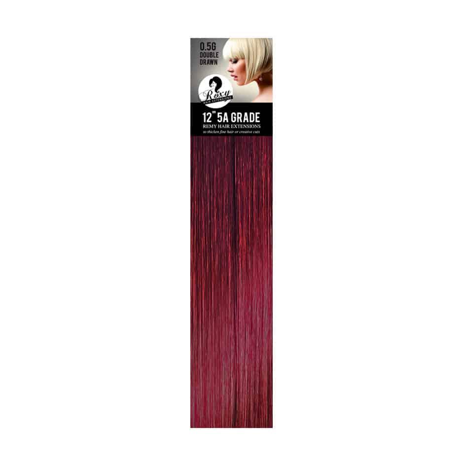Burg Berry Red Brazilian Flat Tip 12 05g Roxy Hair Extensions